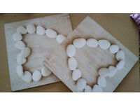 Elegant looking set of 4 square shaped wooden placemats for Dining table- almost new - east London