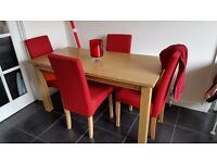 Dining table for sale not including chairs
