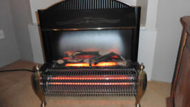 GLEN ELECTRIC CONWAY 2 BAR ELECTRIC FIRE WITH FLAME EFFECT