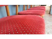 4 X Vintage Solid Chairs in vey Good Condition