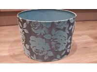 Turquoise Patterned Light Shade