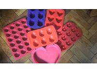 EASTER EGG CHOCOLATE HEART MINI MUFFIN SNOWMAN DOUGHNUT silicone moulds