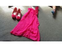 Pink dress 8-9 years and shoes size 1