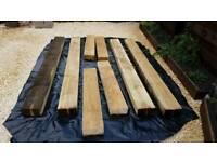 Railway sleepers, soft wood