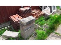 bricks, blockes, rooftiles
