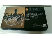 Christmas chandelier black perspex acrylic led light fitting NEW shabby chic