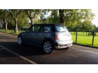 MINI COOPER S 56PLATE 2006 6SPEED MANUAL 99000 MILES SERVICE HISTORY IN METALIC GREY HALF LEATHER