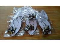 Brand New Flower Costume Dangle Earrings Joblot 7 Pairs