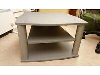 Storage Unit / TV Stand, Grey / Silver with Shelf
