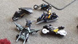 bundle of super hero vehicles. including batman
