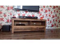 Dark Wood TV Unit & Matching Sideboard