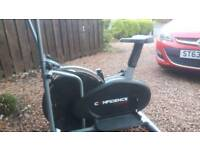 Cross trainer stepper exercise cycle