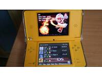 Nintendo dsi xl with games card