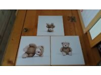 Set of 3 nursery pictures