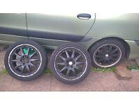 "18"" Alloy Wheels 5x108 renault jaguar ford volvo"