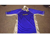CSR WETSUIT BLUE AND GREY SURF SHIRT