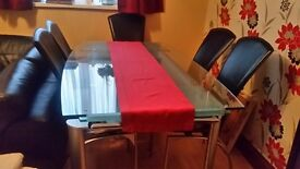 Extending Rectangular Table & Chairs