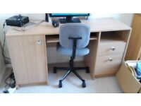 Large computer desk and chair. - DELIVERY AVAILABLE