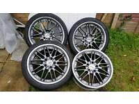 Quick sale alloy wheels 18inch deep dish vw golf, lexus, audi