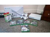 Xbox One S 1TB, 5 games, 2 controllers and docking station