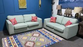 Lovely mint green/duck egg suite. 3 seater sofa and 2 seater sofa