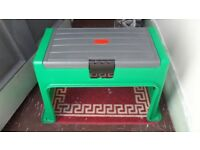 Garden Kneeling Pad and Stool/Bench with contained Storage Box & Kneeling Pad
