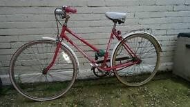Classic vintage ladies pushbike.