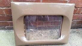 SOLID FUEL PARKRAY DOOR COMPLETE WITH CORNER GLASS