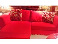 Red Dfs sofa for sale