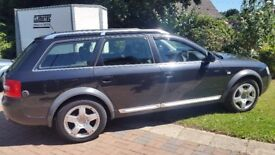SWAP FOR A MOTORCYCLE OR WHAT HAVE YOU GOT. AUD A6 ALLROAD LPG `CAT C` 82000 MILES