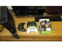 XBOX 360, 250 Gb black +7games, 3controllers
