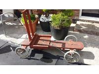 GO KART old school wooden design £140. ono outdoor garden toys kids boys childerns car bike slide