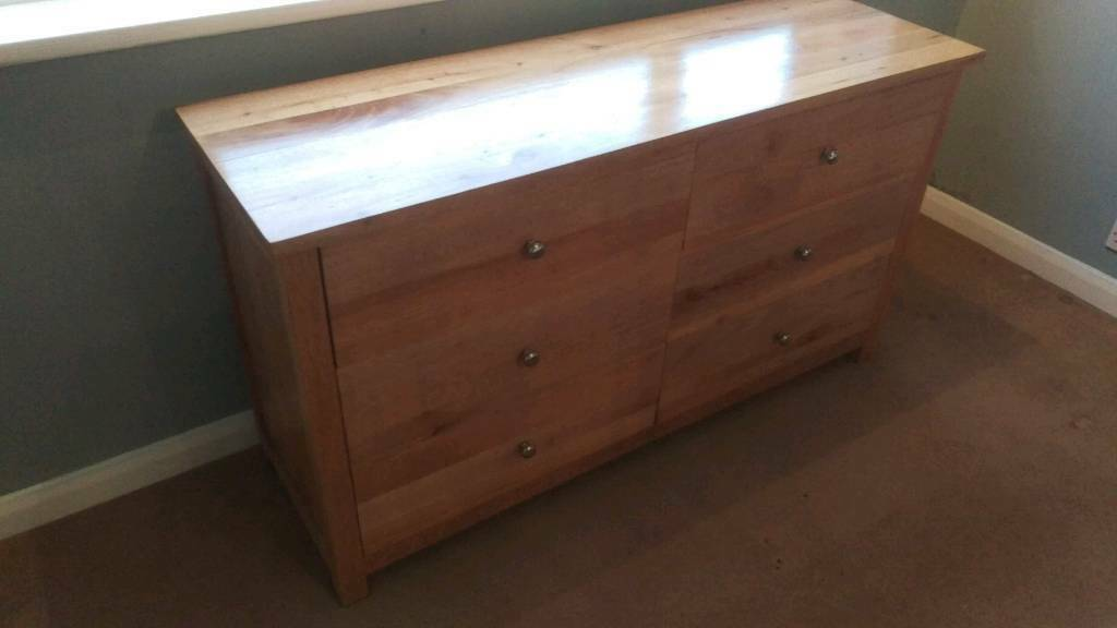 Handmade pine chest of drawers