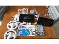 Wii U set with games