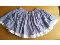 United colours of benetron light blue skirt