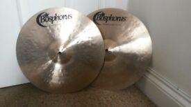 Bosphorus 14 inch Traditional 'Crisp' hi hat cymbals