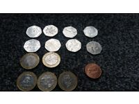 Rare coins for sale, £2, 50p