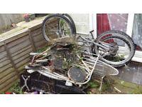 Scrap metal for free - 2 bikes, etc