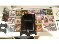 PS3 console + 4 controllers + 19 games