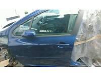 Peugeot 307 2005-2008 front passager side door in blue colour