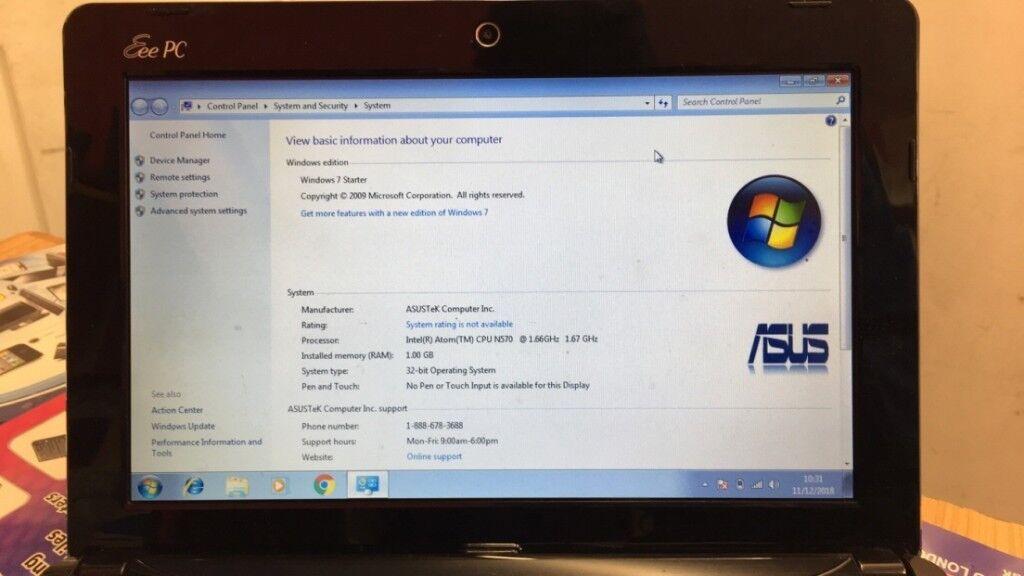 ASUS Eee PC 1015PX - 10 1- Atom N570 - Windows 7 Starter