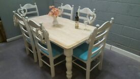 Striking 6ft x 3ft Table and Chair Set