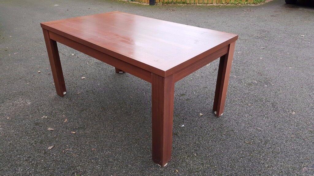Dark Wood Veneer Dining Table 150cm FREE DELIVERY 004