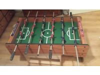 "Table top football, field approx 18"" x 31"" with free table top snooker (balls missing)"