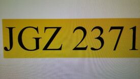 Personalised number plate JGZ 2371 dateless cherished number