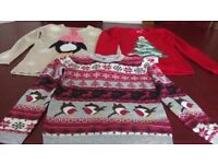 3 Christmas jumpers. Age 7-8. 9-10.