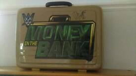 Wwe money in the bank briefcase hand signed by Dolph Ziggler