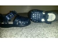 armani baby sandle in navy size 19