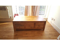 Natural Solid Wood Coffee Table (Oak Furniture Land)