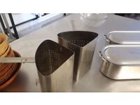 Large pasta/vegetable strainers